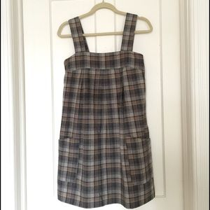 COPY - H&M plaid pinafore dress